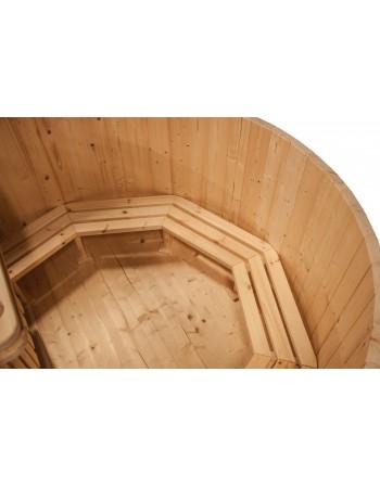 Le modèle de base: bain nordique en bois