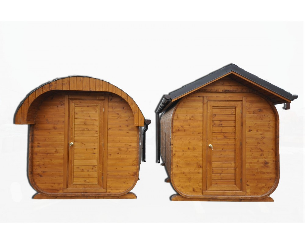 Sauna Extérieur Avec Un Toit Ovale