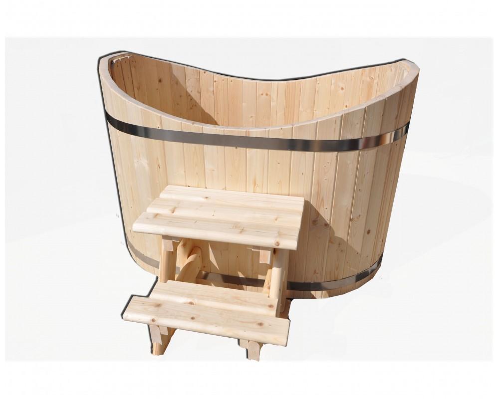 Bain nordique en bois pour 2 personnes