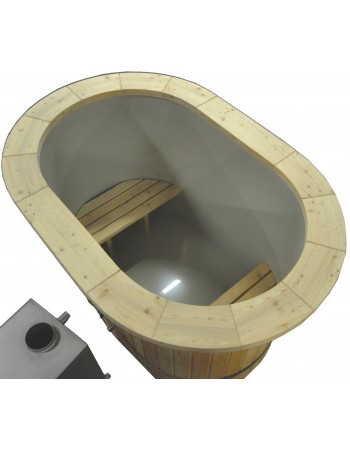 Bain nordique ovales pour 2 personnes en plastique