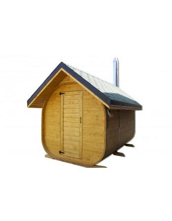 Jardin extérieur sauna en bois
