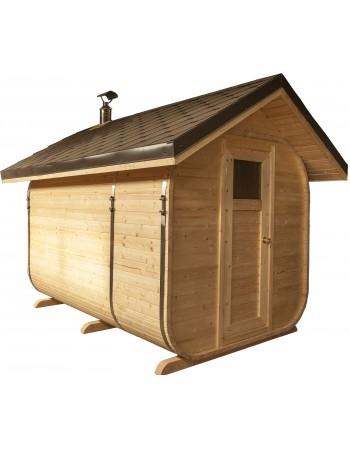 sauna (nuožulnus stogas)