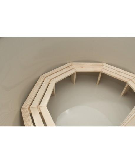 Bancs en bois de type A pour bain nordique