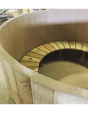 Banquettes en bois de type S pour bain nordique