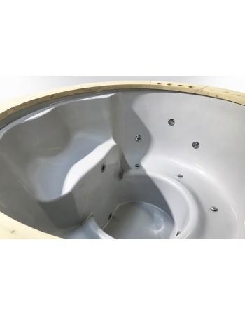 Ekonomiškas dviejų krosnelių stiklo audinio kubilas 180cm