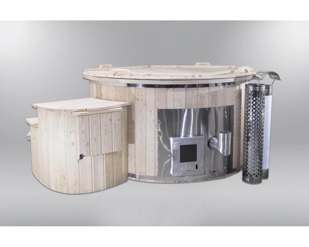 spa conomique avec chauffage lectrique et bois 180cm. Black Bedroom Furniture Sets. Home Design Ideas