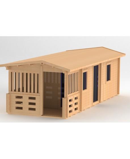 Sauna de forme rectangulaire