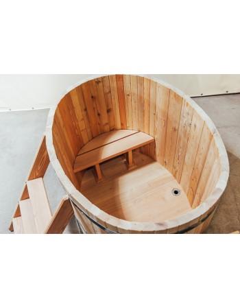 Bain nordique ovales en bois pour 2 personnes