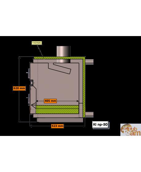Réchaud à combustible dur Kl NP-75