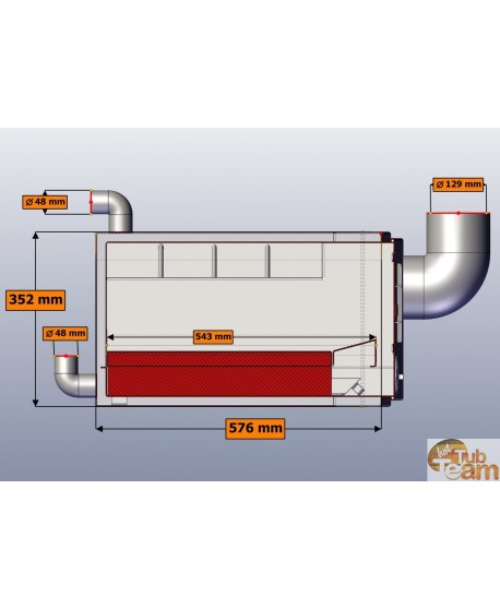 Poêle intégré en acier inoxydable