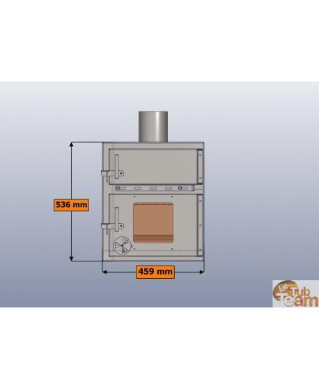 Poêle intégré pour bain nordique en plastique KKI Np-01