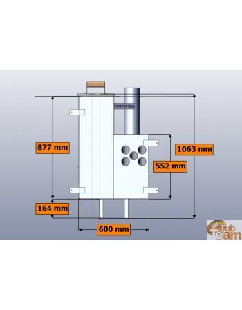 Poêle interne pour bain nordique KL np-60