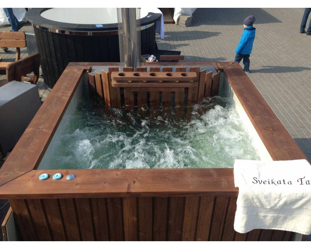 bains nordiques sous forme de angulaire en bois trait thermiquement. Black Bedroom Furniture Sets. Home Design Ideas