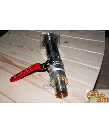 Vidange d'eau externe avec un robinet à tournant sphérique