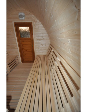 ext rieur sauna igloo design sauna en bois. Black Bedroom Furniture Sets. Home Design Ideas